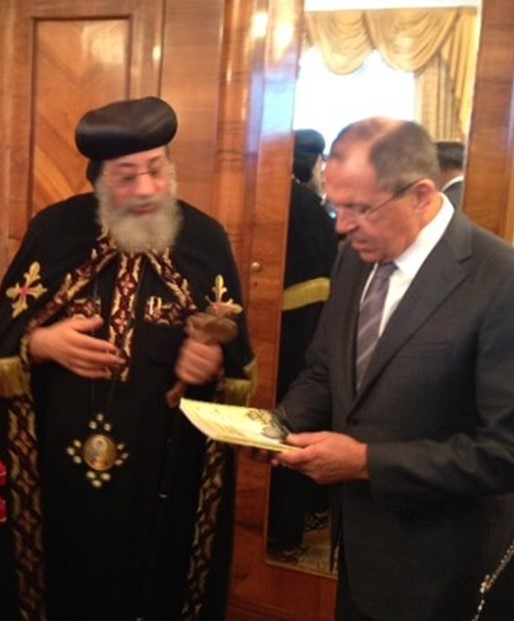 Patriarch Kirill is the first to receive an Orthodox luxury phone 01/19/2017 76